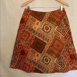 Cotton A-line Skirt